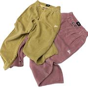 吸睛糖果色 澳版宽松锥型休闲裤20女裤复古百搭灯芯绒长裤