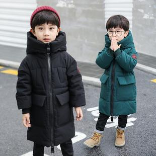 童装男童棉衣中长款2018儿童冬外套中大童羽绒棉服袄洋气加厚