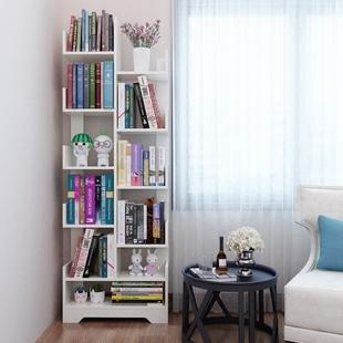 书架落地简约现代简易客厅树形置物架儿童学生实木组合创意小书柜