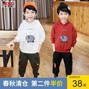 米西果男童秋装2019洋气儿童卫衣春秋款薄款韩版洋气童装薄款