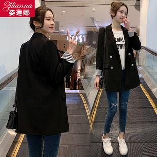 chic网红小西装女外套黑色2019春秋装气质宽松小西服上衣