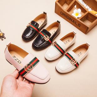 女童皮鞋2019春季儿童单鞋软底平底女孩豆豆鞋女童公主鞋