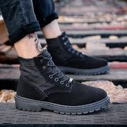 马丁靴男靴子军靴雪地中帮工装沙漠靴男士百搭冬季高帮男鞋短靴潮