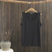 大码女装纯棉背心2019夏季薄款无袖百搭打底衫T恤纯色吊带衫