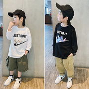 邦仔家童装男童长袖T恤2021春季韩版儿童洋气卡通春装上衣潮