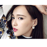查看精选奥米迪奥珍珠耳钉纯银女大小双面耳环韩国个性气质前后耳饰品网红最新价格