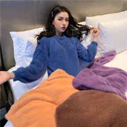秋冬装马海毛毛衣女套头宽松中长款加厚上衣慵懒风网红毛绒针织衫