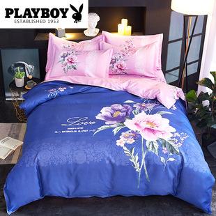 全棉磨毛加厚秋冬保暖婚庆四件套纯棉1.8m双人被套床单床上用品