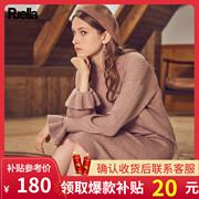 针织衫毛衣女2018秋冬中长款宽松过膝外套内搭打底连衣裙