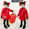 女童旗袍冬2018中国风洋气儿童唐装拜年服宝宝中式礼服新年装