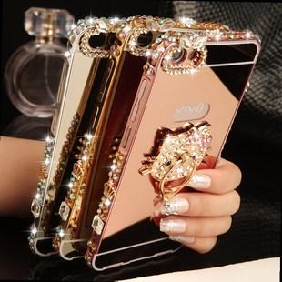 定制手机壳适用小米5x水钻小米5Splus金属边框外壳小米6镶钻note2