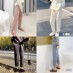 大喜自制 色多版型好 加厚保暖奶奶裤 复古针织宽松裤子女裤