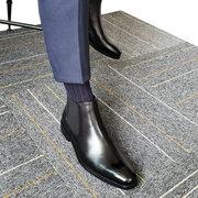2018切尔西靴男靴子马丁靴短靴英伦风中帮尖头真皮靴高帮男鞋