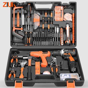 久克 家用工具箱套装组合工具箱多功能维修工具组套电钻五金德国