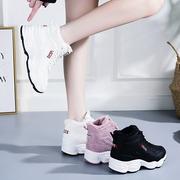 加绒运动鞋女鞋子2018冬季百搭网红老爹鞋小白鞋棉鞋