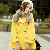 女款时尚厚外衣斗篷时尚百搭上衣淑女可爱流行气质上衣秋冬厚外套
