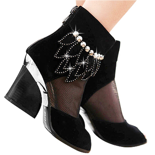Mail original authentic new women's shoes high heel boots hot fashion sexy and comfortable in spring and summer women sandal network