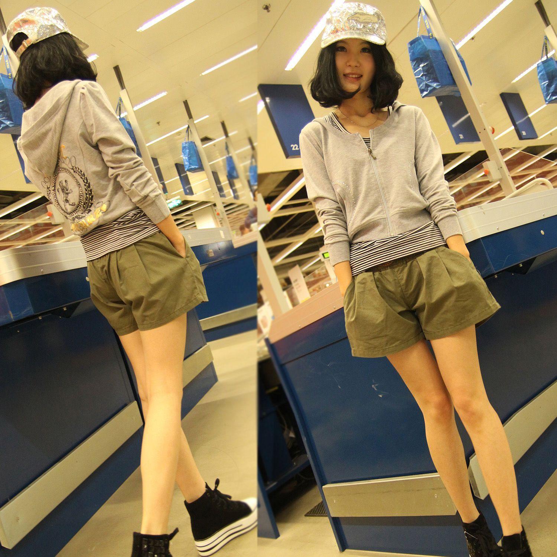 Женские брюки Brand 584 Шорты, мини-шорты Шаровары