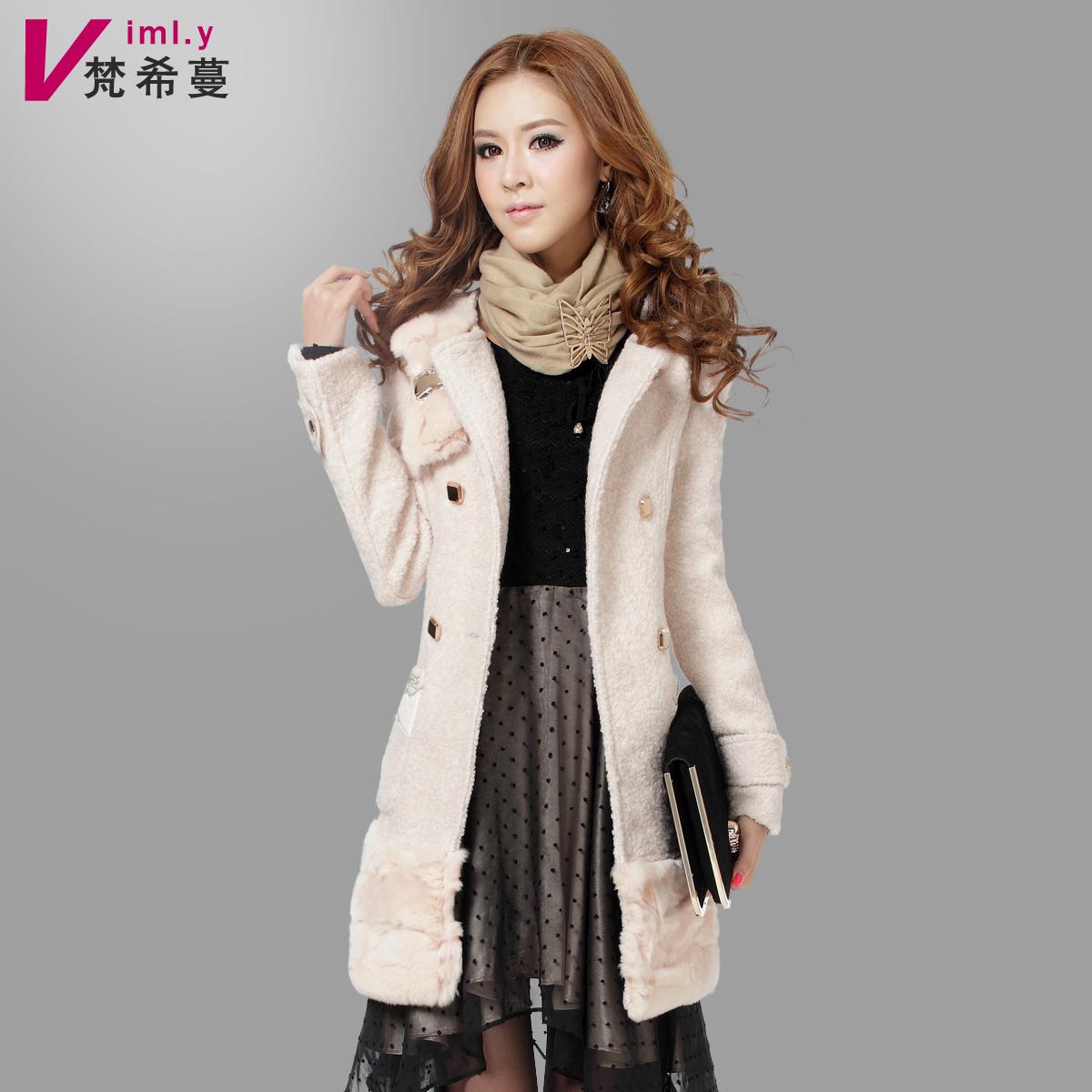женское пальто Vimly 87763 2012 Зима 2012 Средней длины (65 см <длины одежды ≤ 80 см) Vimly / Givenchy Man Длинный рукав Объемный рукав