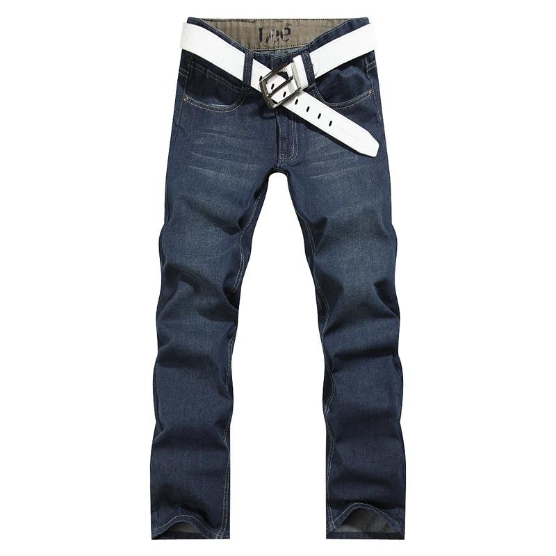 Джинсы мужские Leven 1052 2012 Классическая джинсовая ткань 2012