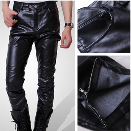 [Deal] spring-summer men's Korean wave slim PU leather pants men's wagon pencil pants leisure pants hot
