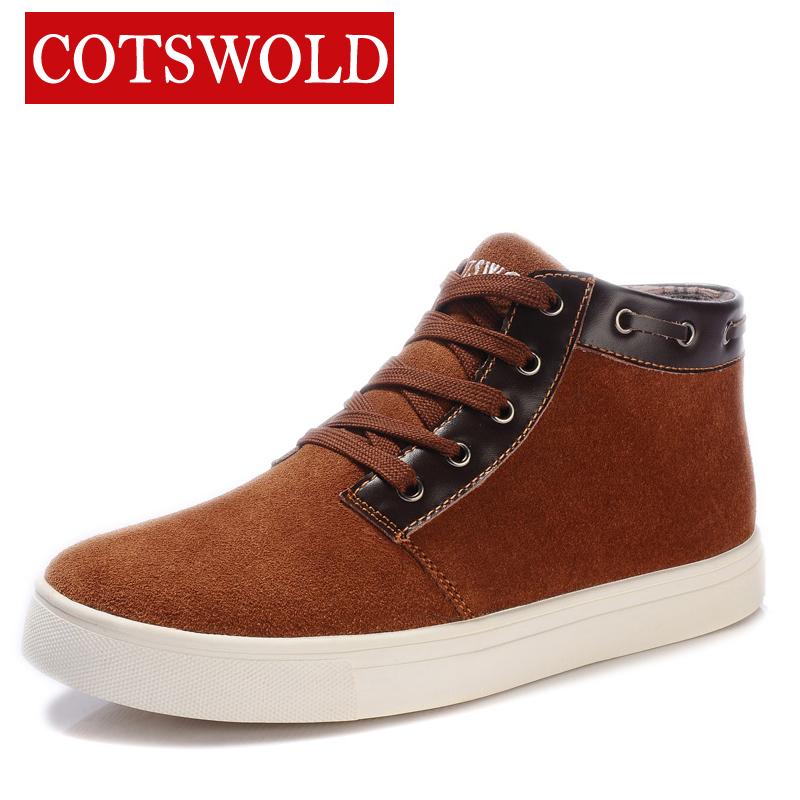 Ботинки мужские COTSWOLD A001 Для отдыха Круглый носок Двухслойная натуральная кожа Замша Зима