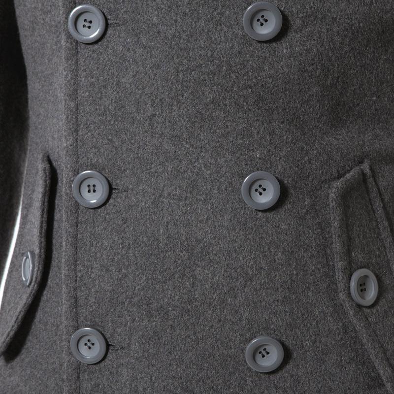 Пальто мужское Fmorning Шерстяная ткань для пальто Отложной воротник