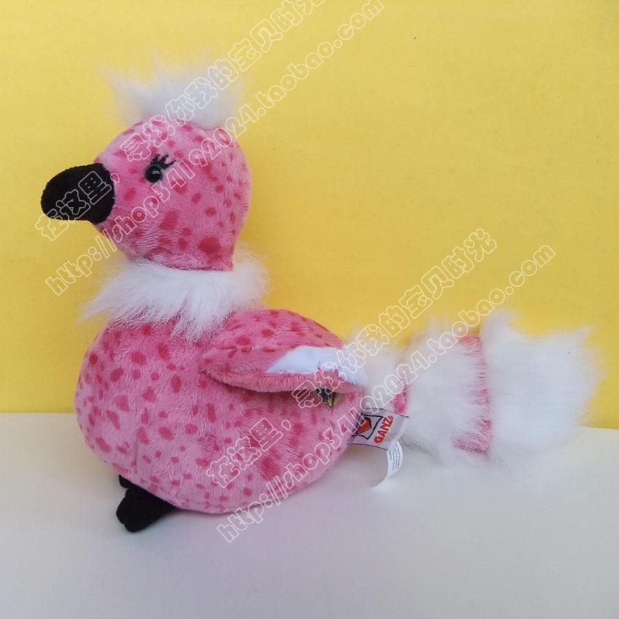 儿童生日礼品~加拿大ganz网游宠物小精灵樱花鸟毛绒玩具公仔娃娃