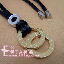 Bvlgari Bvlgari collar nuevo doble collar de círculo (nunca se desvanecen) con caja de collar