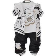男童装2014春装一两三1-2-3岁半周岁男宝宝纯棉三件套装