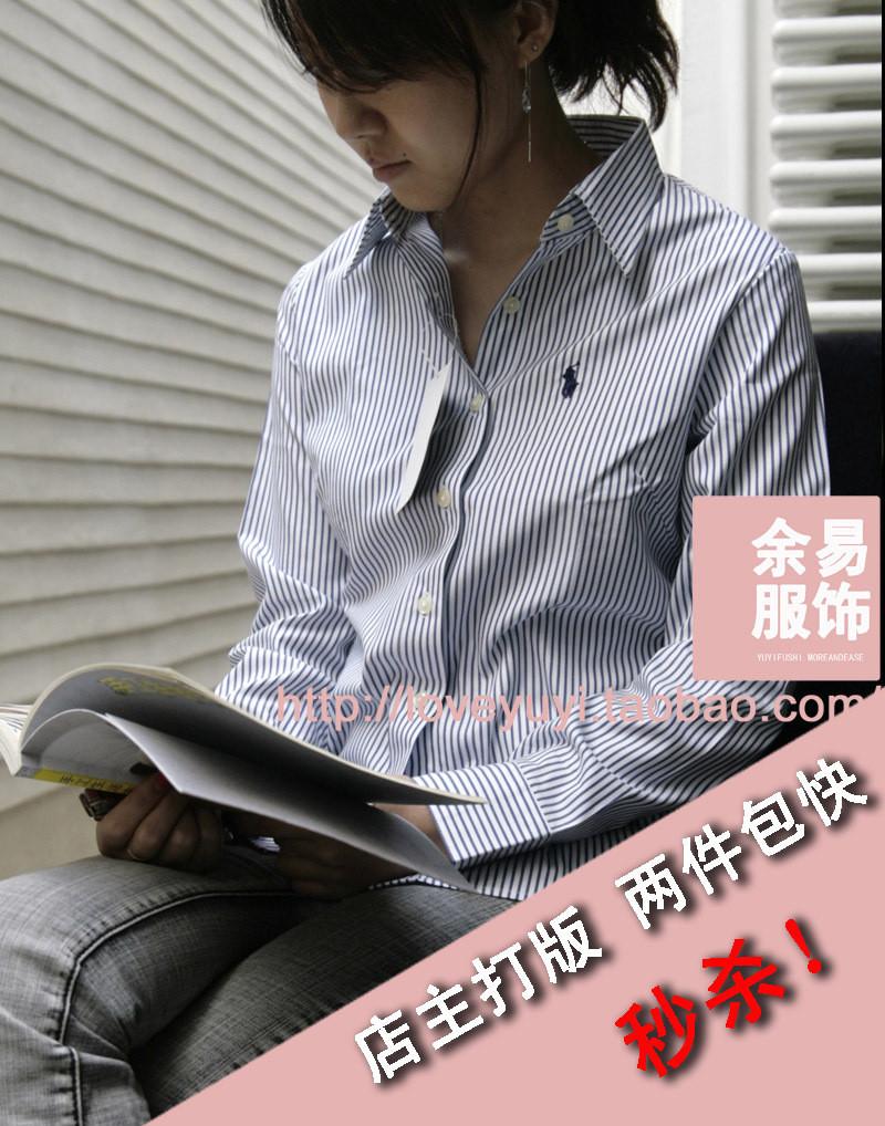 женская рубашка POLO Повседневный Длинный рукав