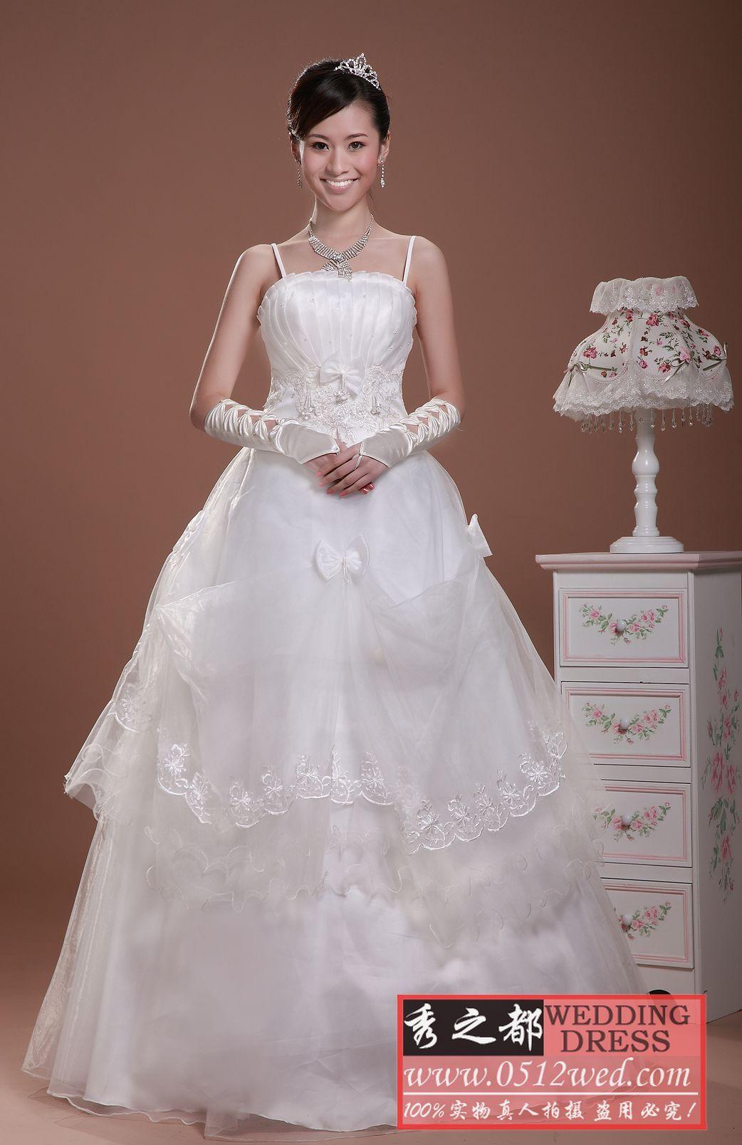 冲钻超低价 热卖新款 超漂亮 吊带 婚纱 x07款 包退换