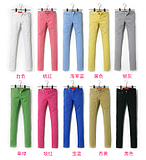 2012 spring clothing new Korean color pencil pants feet pants elastic thin DIKU-like denim casual pants 168