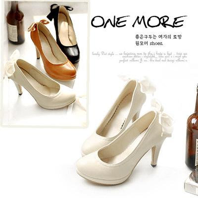 VIVI2011裸色欧美夜店女鞋子秋鞋细跟时尚蝴蝶结超高跟鞋韩国单鞋