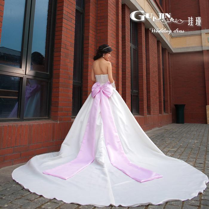Свадебное платье Gui Jin TW1 2012 2012 Блестящий материал Длинный шлейф Корейский