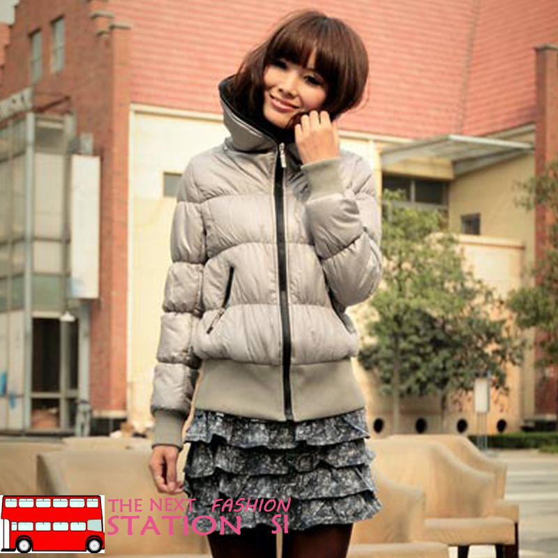 Женская утепленная куртка 2012 Облегающий покрой Длинный рукав Осень 2012