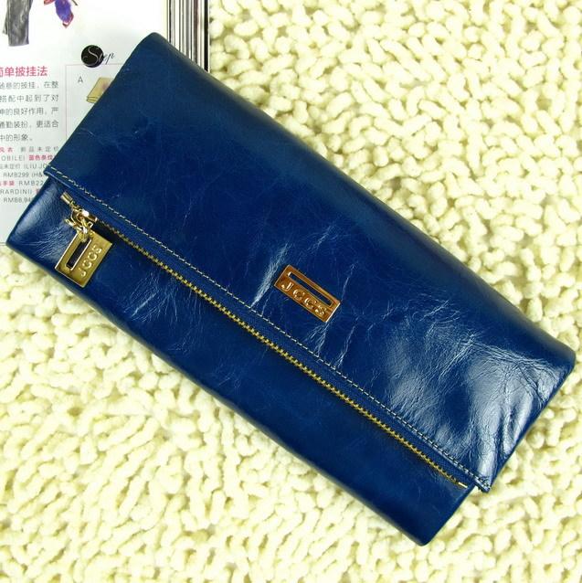 Бумажник Электронной почты античный воск кожаный кошелек бумажник zip вокруг бумажник дамы Кошельки женские кожаные кошельки Длинный бумажник Жен. Кожа быка