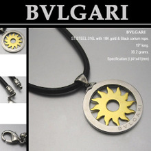 BVLGARI marca] [collar de acero inoxidable es tan simple como el original [STS-040]