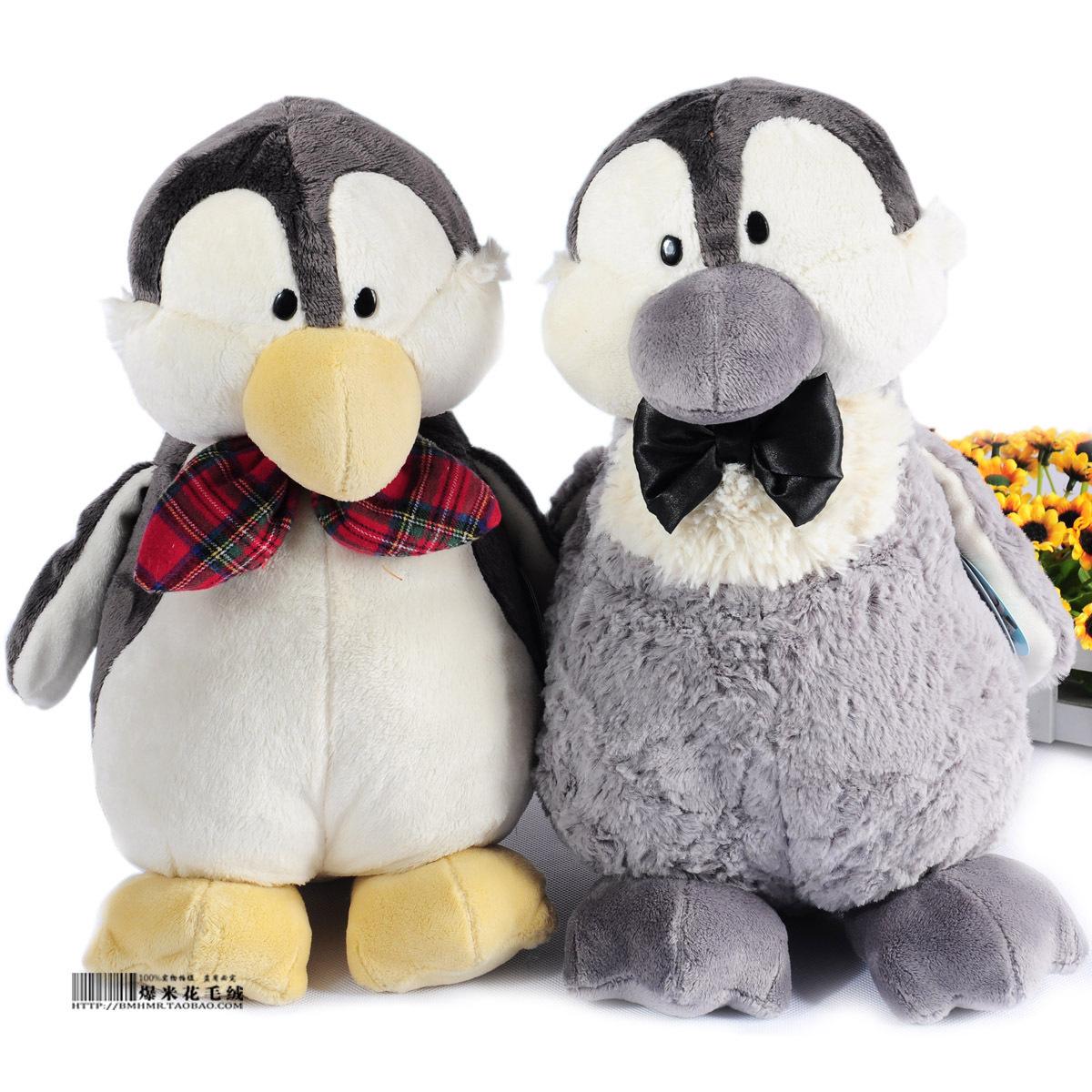 正版正品nici耳麦耳包企鹅情侣玩具毛绒公仔娃娃礼物