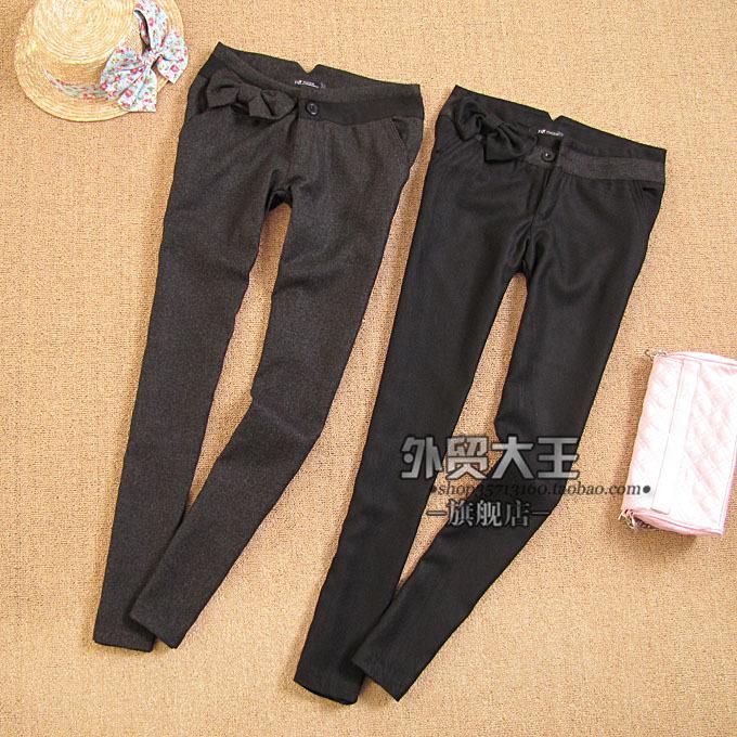 Женские брюки Wmdw VIVI WK422 Узкие брюки-карандаш Дикие должны быть удалены Зима, Осень