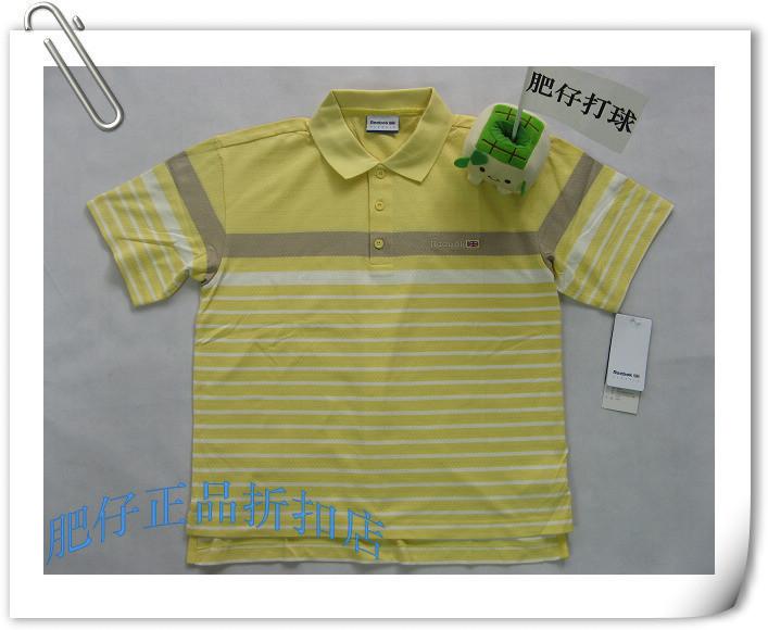 Рубашка поло Reebok 245095 100 POLO Для мужчин Длинные рукава (рукава ≧ 58см) В полоску Для спорта и отдыха
