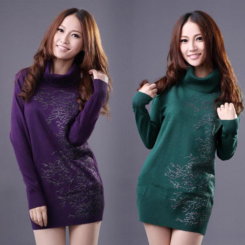Трикотаж Beautiful Korean clothing 8075 2012 Осень 2012 Ажур Классический рукав Высокий воротник