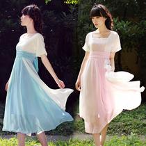月芝猫原创 2013春装新款高腰雪纺甜美复古波西米亚连衣裙长裙168