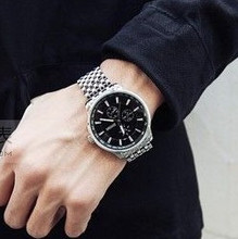 包邮 新韩国个性时尚韩版三圈男士手表 运动男表 手表 男正品大气