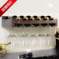 宜家 创意红酒架 时尚壁挂 实木红酒架 酒柜欧式 酒杯架 倒挂