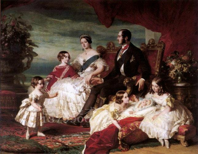 手绘高档古典名画美女西班牙宫廷人物yh026欧式油画