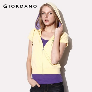 Hot recommend Giordano jacket ladies ' Crown Flash drilling even in summer Hat chest medical clothing 01371402
