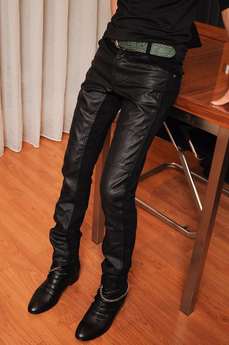 Кожаные брюки Vatican Waugh cecj/K040 2012 CECJ-UT-K040 Искусственная кожа (полиуретан) Модная одежда для отдыха