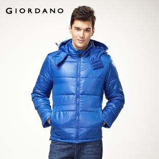 2012 Giordano jacket men's detachable Cap warm coat jacket 01071647