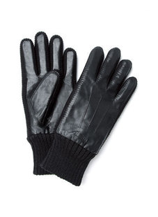 Meng Diai Mo stitching fashion men's gloves mittens Sheepskin 068711403
